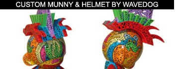Custom Munny & Helmet By Wavedog