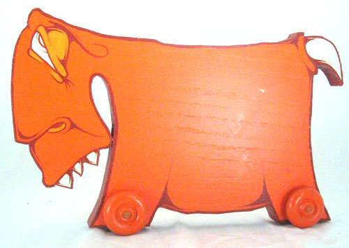 Little Creatures on Wheels - Orange Toy - Charlie Alan Kraft