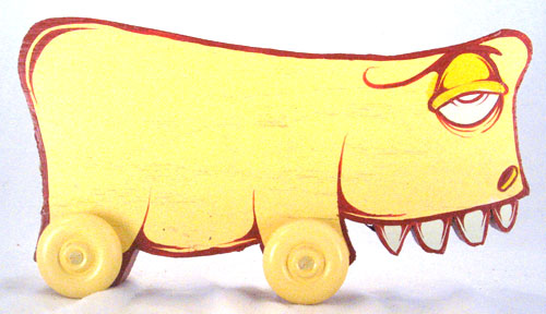Little Creatures on Wheels - Yellow Toy - Charlie Alan Kraft
